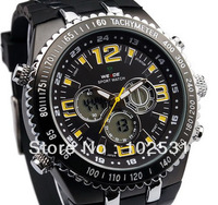 Hot ! Top Brand Big Dial Sports Multifonction Rock Chronograph Digital Men's Army Military Tag Hour Watch
