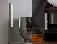 One Aluminum Alloy Automatic PIR Infrared Sensitive Motion Detector Wireless Sensor LED Light Lamp White