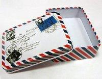 Free shipping envelope stamp 35pcs/lot fashion style tin box poker gift box jewellery box  candy box