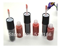Womens Fashion Makeup 2 in1 Long Lasting Lipstick Lip Gloss 12 Colors for Choice