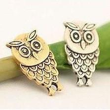 5pairs/1Lot 2014 Korean Jewelry Vintage Playful Retro Cute Owl Earrings XY-E43 XY-E44(China (Mainland))