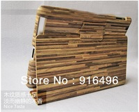 High Quality Brand new leather case skin Wood pattern cover PU leather for iPad mini with freeshipping