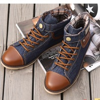 New Arrival Spring Fashion Sneakers Shoes High Canvas Shoes Fashion Casual Sports Sneakers Men's Boots