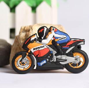 Free shipping Wholesale full capacity 2GB 4GB 8GB 16GB 32GB cartoon motorbike 2.0 Memory Stick USB Flash Drive, E1019