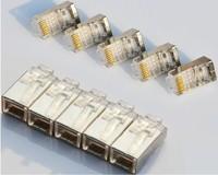 50PCS Cat5e  RJ45 Connector Modular Plugs For Cat5e Cables- Network Connector