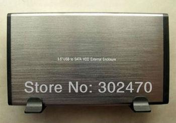 "[HOT SELLING!] WHOLESALE 5pcs/lot 3.5"" SATA HDD External Drive Hard Disk Enclosure Case"