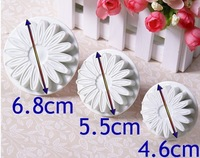 New 3x Sunflower Fondant Cake Decorating Cookies Sugarcraft Plunger Cutter Mold  020040