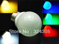 Wholesale 10 PCS E27 Energy Saving LED high power 3W Light Lamp Bulbs Lighting Cool White warm white green red blue new