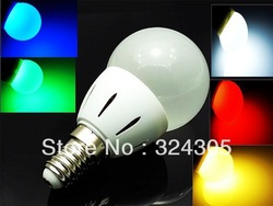 10X2013 new style Wholesale 1 PCS E14 Energy Saving LED high power 3W Lamp Bulbs Lighting Cool White warm white green red blue(China (Mainland))