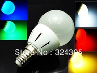 10X2013 new style Wholesale 1 PCS E14 Energy Saving LED high power 3W Lamp Bulbs Lighting Cool White warm white green red blue