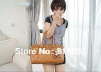 WHOLESALE Vintage High Quality PU Leather Tote Handbag Messenger Bag Women Shoulder Bags Free Shipping