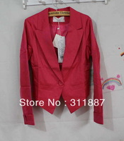 women blazers Spring one button slim suit candy color outerwear