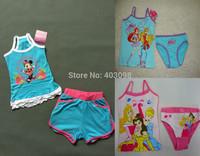 2014 girl summer WINX Minnie princess suit kids cartoon clothing set item NO.1304