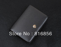 2014 Fashion Brand Genuiner Leather Business ID Name Card Holder Organizer Wallet Bank Credit Card Purse Bag Case Pouch