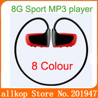 W262 Sports Mp3 player Headset sweatband MP3 8GB for Running, cycling, hiking, outdoor sports 8 colors