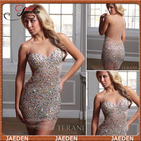 GC0008 2013 new arrival Sheath sweetheart crystal elegant sexy short prom dress