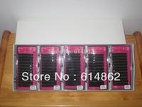 10 box set 020c 12mm  MINK eyelash extension super soft black curl type, artificial eyelash Fake False Eye Lash Eyelashes