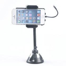 For iphone 5 ipod touch 5 FM Transmitter holder stand+car charger Free shipping(China (Mainland))