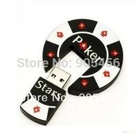 Free shipping Wholesale full capacity 2GB 4GB 8GB 16GB 32GB poker shape 2.0 Memory Stick USB Flash Drive, USB36