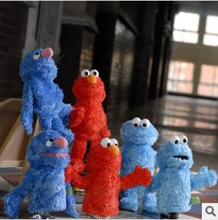 Finger Puppet animal educational toys for children Sesame Street(China (Mainland))