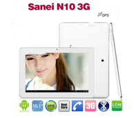 10 inch Sanei N10 Qualcomm Dual core Tablet pc Android 4.0 IPS 1280x800 WCDMA 3G Phone Call Wifi+Free gifts!