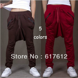 Men Women Unisex Harem Baggy Sweat Pants Athletic Sporty Casual Tapered Sport Hip Hop Dance Trousers Slacks Joggers SweatPants(China (Mainland))