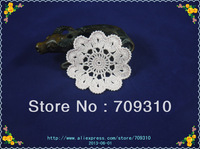Set Of 20 pieces new home wedding party decorations hand Crocheted Doilies Coaster Vase mat Place mats 11 colors Free customized