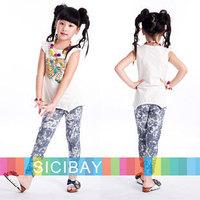 Kids Clothing Girls Leggings Cheap Free Shipping  Girls Fitness Pants Kids Spring / Autumn Slim Wear,3pcs/pack K0362