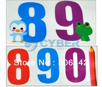 Wholesale 10Pcs/Lot Kids NUMBERS Art Deco Mural PVC Wall Sticker Free Shipping 6810