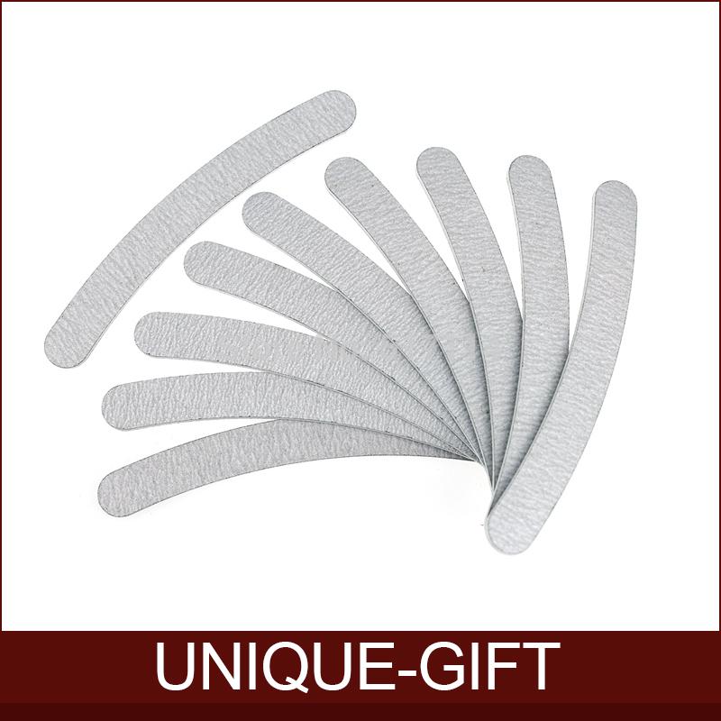 Rosalind Free Shipping 10pcs/lot 100/180 Acrylic UV Gel Curved Mail Nail File Buffer Buffing Manicure Set(China (Mainland))