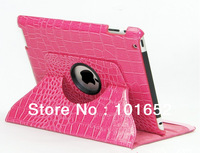 Case For ipad 4 2 3 50% off free Shipping 360 Degrees Rotating Stand Magnetic Smart Cover Leather 1pcs/lot IPC-20