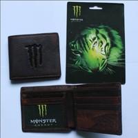 100% Men Genuine leather motor  wallet