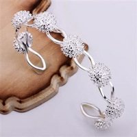 925 sterling silver links chain women's bracelet 2013 new arrival wholesale