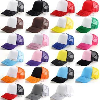 2015 new paintless men truck cap hand painting caps hiphop hat hip-hop cap advertising women Baseball net hats