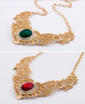 [Min. 6$]2015 New Design Fashion New Gorgeous Bib Necklace Chocker  for Women Free Shipping N274