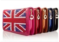 2014 new handbag Europe fashionista meters word flag hand bag purse rivet free shipping