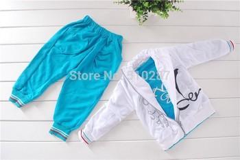 Free shipping 2014 Baby set 1sets /lot kids suit 3pc/set(Coat+T Shirt+Pant) Children Suit Kid Clothes spring wear