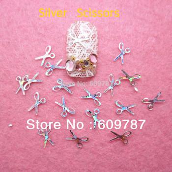 100g/bag silver  Scissor glitter DIY shiny nail art decorations