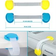 10PCS Plastic Bendy Door Drawer Fridge Furniture Adhesive Cabinet Toilet Safety Lock for Child Kid Latch Non Open Children Baby(China (Mainland))