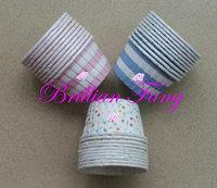 New!!! 1500pcs Round MUFFIN CAKE WHITE Stripe and WHITE Dot Paper CUPCAKE CASES