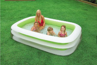 Free shipping by EMS  Intex 56483  inflatable pool swimming pool ,small family pool size:262cmx175cmx56cm