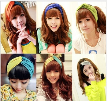 Free shipping wholesale hair band elastic headband headwear fashionable headwrap for women headwrap