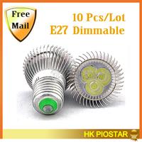 10PCS  E27 3w 4w 5w 6w 9w 12w  AC85~265V Dimmable/Non Dimmable  White/Warm white/Cold white LED Spot Light LED Downlight Lamp