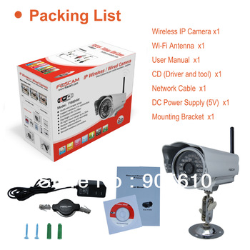 Foscam IR-CUT Wireless IP Camera FI8904W Wide-Angle Night-Vision Smartphone-View outdoor waterproof Camera