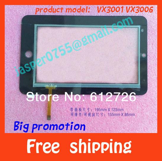 Панель для планшета 7' lcd , /daoqin VX3001 VX3006 панель для планшета 7 a11020700067 v08 pipo s1