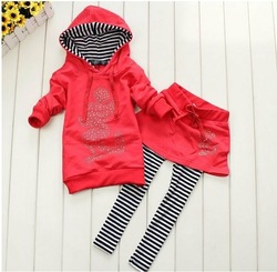 4 set/lot cartoon Baby clothes set short hoody+pants kids clothes suit MINNIE girls children clothing in stock(China (Mainland))