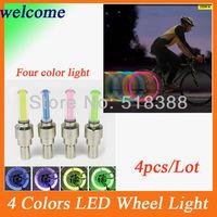 4 colors on sale LED Flash Tyre Wheel Valve Cap Light , car LED drl Wheel Light daytime running ligh car led lightt - Free ship