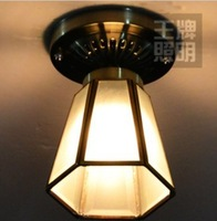 FREE SHIPPING 3PCS  Bronze color copper solder glass ceiling light aisle lights corridor lights lamps (69)