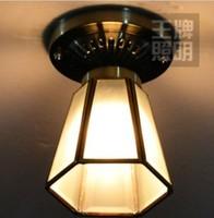 FREE SHIPPING 3PCS  Bronze color copper solder glass ceiling light aisle lights corridor lights lamps (69)