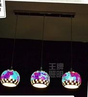 FREE SHIPPING 3HEAD Pendant LAMPS Bohemia mosaic pendant lights restaurant lamp living room lamps lighting Pendant Lights